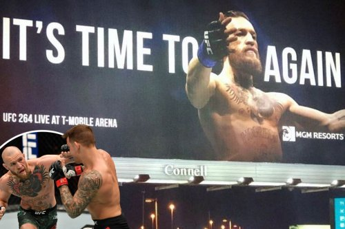 McGregor plastered on billboard as UFC star says 'it's time to shine again'