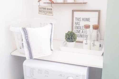 Woman creates budget £25 laundry corner and Stacey Solomon would love it