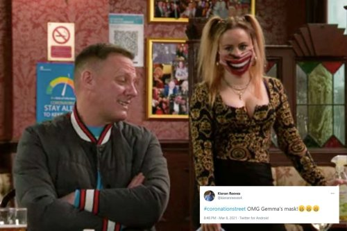 Corrie fans in stitches as Gemma Winter upstages EVERYONE with 'freaky' mask