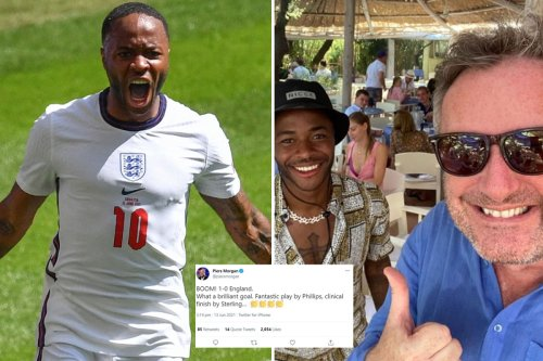 Piers Morgan leads celeb celebration as England win first game of Euro 2020