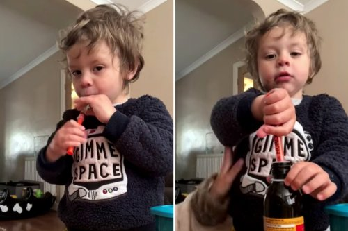 Mum reveals how she tricks son, 2, into taking medicine & all parents can do it