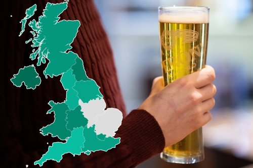 Map reveals booze capital of the UK - where does your area rank on the list?