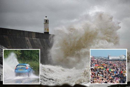 Storms batter UK bringing end to sunshine ahead of England v Scotland