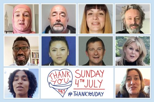Celebs call for nationwide Thank You Day to praise Covid heroes