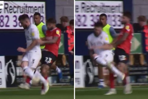 Watch Arsenal old boy Lansbury avoid red card for completely wiping out opponent