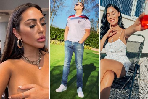 Topless Sophie Kasaei and Cally Jane Beech lead support for England in Euros