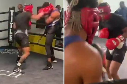 Watch Devin Haney breaks sparring partners nose with brutal barrage