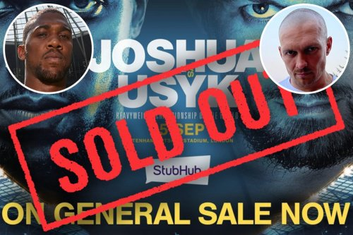 AJ v Usyk tickets sell out in a day with 60,000 fans to descend on Spurs' ground