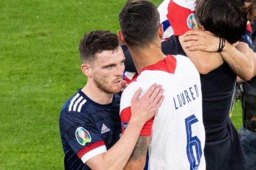 Lovren sends Liverpool pal Robertson classy message after Croatia KO Scotland