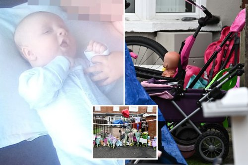 Dad's screams after baby knifed 'repeatedly' to death days before christening