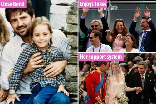Sweet signs Kate is a daddy's girl - from Wimbleton jokes to trusted glances