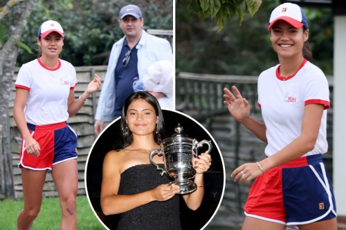 Emma Raducanu leaves home ready for tennis return after celebrating US Open win