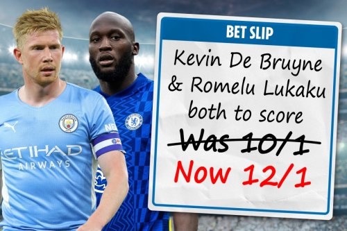 Kevin De Bruyne and Romelu Lukaku both to score NOW 12/1 with Sky Bet