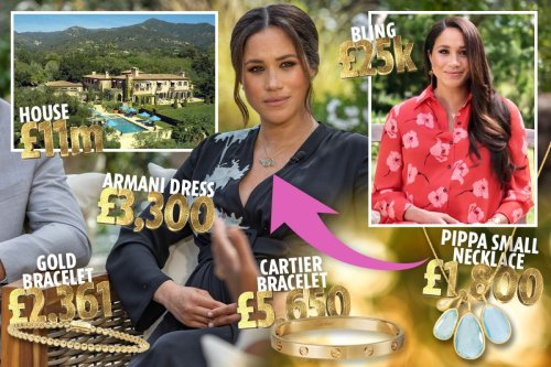 How independent Meghan Markle splashes £120m fortune on £25k bling & Armani