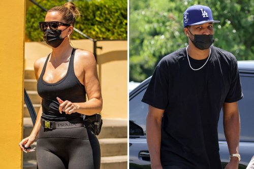 Khloe looks solemn on outing with 'cheating' Tristan & daughter True