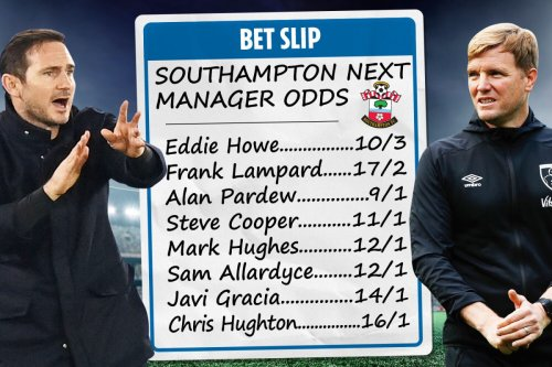 Southampton next manager odds - Eddie Howe leads Frank Lampard for Saints job