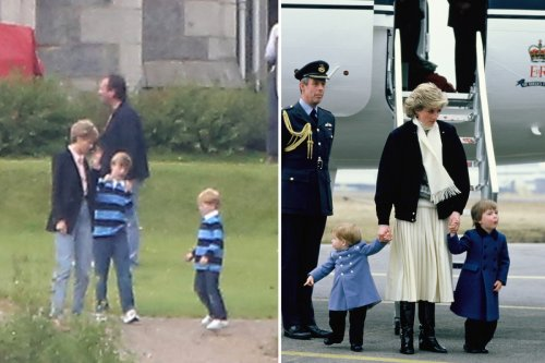First look at Princess Diana, William and Harry on set of The Crown season 5