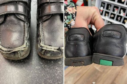 Mum fuming as son's school Kickers wear out days after she splurged £74 on them