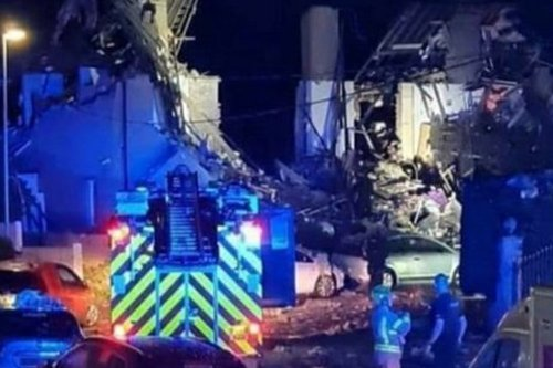 Explosion destroys three houses and locals evacuated in 'major incident'