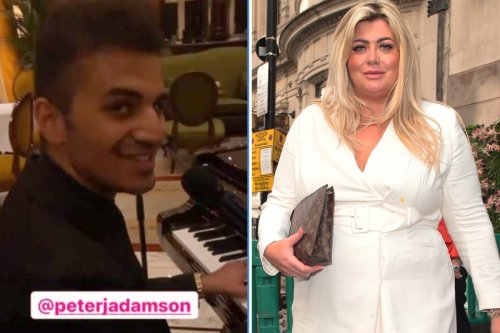 Gemma Collins shows singing voice as she enjoys duet at Dorchester hotel