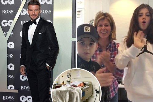 Kate Garraway reveals David Beckham sent videos to her kids as Derek lay in coma