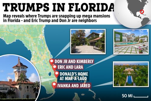 Map shows where Trumps are buying mansions in Florida as family moves en masse