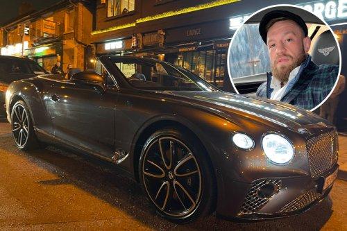 McGregor shows off Bentley as he arrives at his Dublin pub amid Italian DJ row