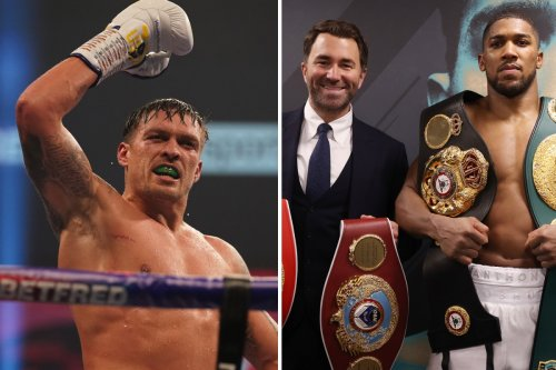 Anthony Joshua warned Oleksandr Usyk could 'derail his career' and Fury hopes