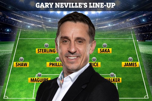 Gary Neville names England XI to face Germany in Euro 2020 with formation switch