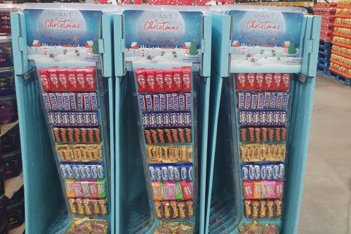 Costco is selling a giant stocking filled with 105 chocolate bars and sweets