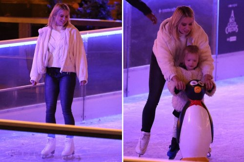 Dancing On Ice's Kimberly Wyatt shows off skating skills at ice rink launch