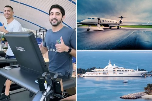 Racing's billionaires train with Cristiano Ronaldo and own 'world's best yacht' as part of their amazing lifestyles