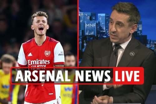Arsenal news LIVE: Neville slams White and Gabriel's defending, Crystal Palace draw reaction, Jovic transfer LATEST