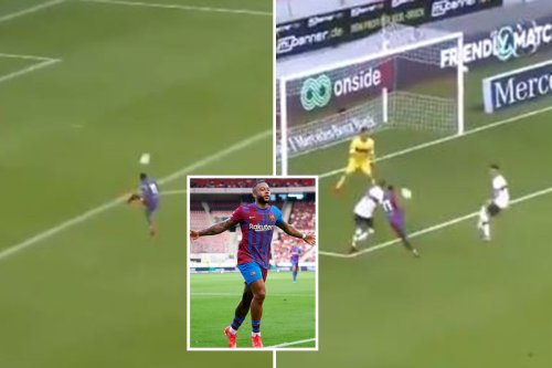 Watch Depay's insane touch and finish as Barcelona new-boy turns on style