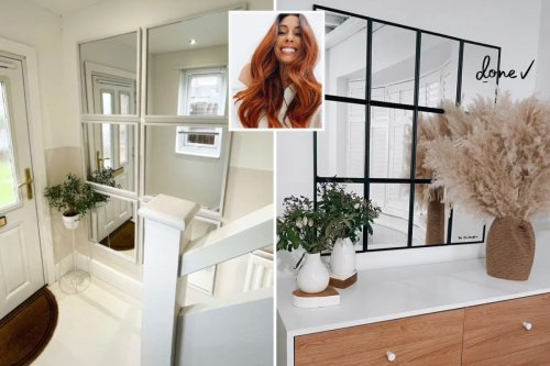 Woman gives hallway makeover using £8 Dunelm frames inspired by Stacey Solomon