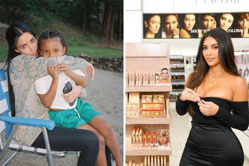 Kim cuddles up to son Saint, 5, in sweet photo after shutting down KKW Beauty