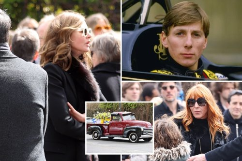 Trinny Woodall & Charlotte Tilbury join funeral procession for ex-F1 driver