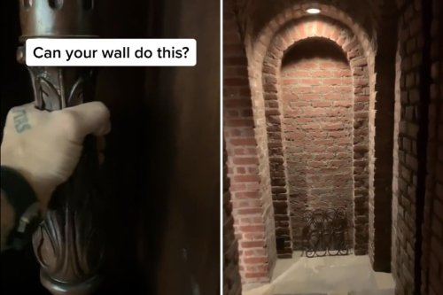 Lad finds underground lair hidden behind fireplace & people are freaked out