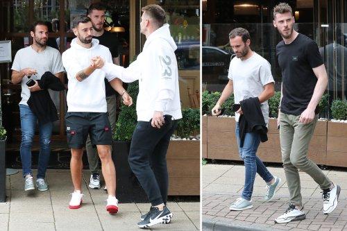 Man Utd stars including Fernandes and De Gea meet up for swanky Italian lunch