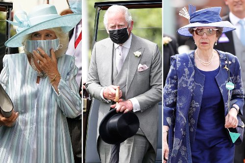 Charles & Camilla dress to the nines as they join 12k revellers for Ascot