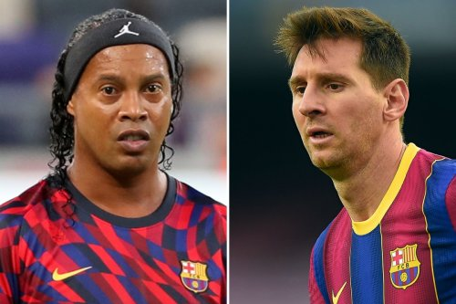 Ronaldinho wants Messi to stay at Barca and club to retire No10 in the future