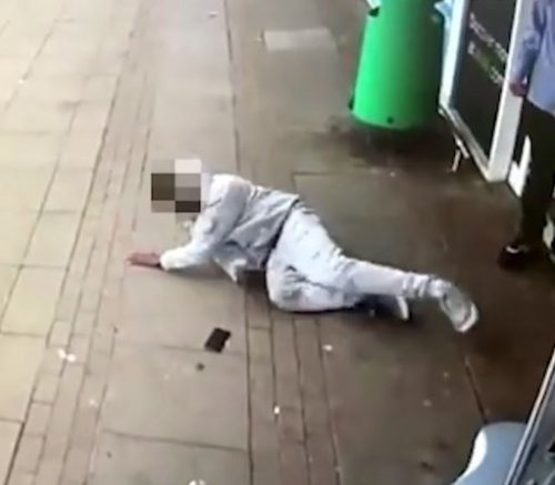 Moment 'Asda guard' knocks out man & drags him from store in front of shoppers