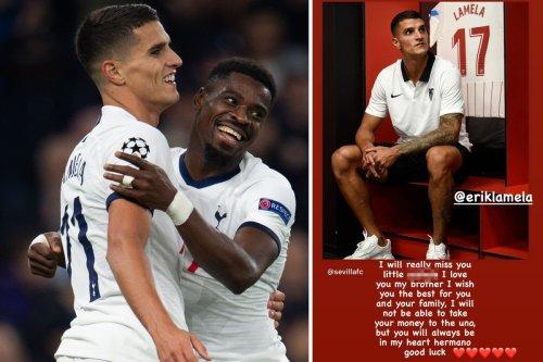 Aurier tells 'little a**hole' Lamela he will miss him after Sevilla transfer