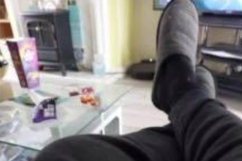 Hermes driver's 'delivery attempt photo' shows him 'sat on his a**e at home'