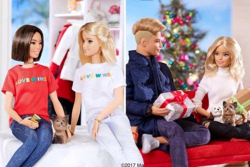 'Barbie has a girlfriend' trending after doll seen wearing 'Love Wins' shirt
