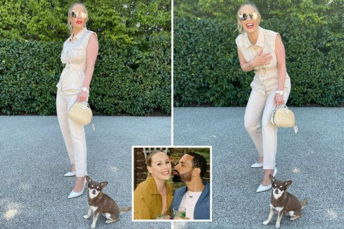 Kate Ferdinand gets husband Rio's attention in very glam outfit