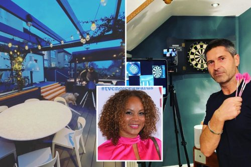 Inside Coronation Street star Angela Griffin's Victorian home with huge garden terrace, outdoor bar and darts room