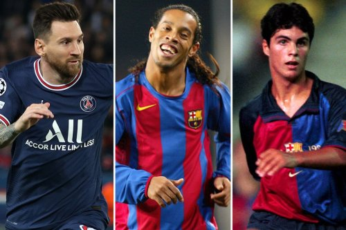 Ten stars who played for Barcelona and PSG including Messi and Arteta