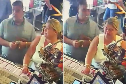 Couple who left dogs in car during 24C heat caught 'stealing from café tip jar'