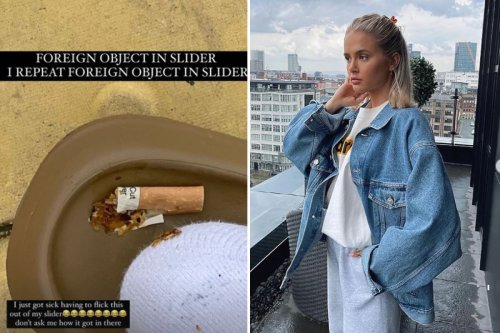 Molly-Mae Hague throws up as she has to remove cigarette butt from her sliders